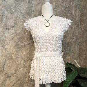 INC Knit Tunic with Self Belt Size Small